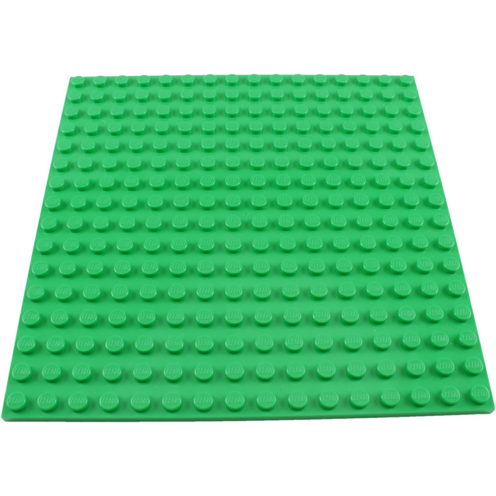 Lego plate 16x16 Bright Green 91405 Brand New