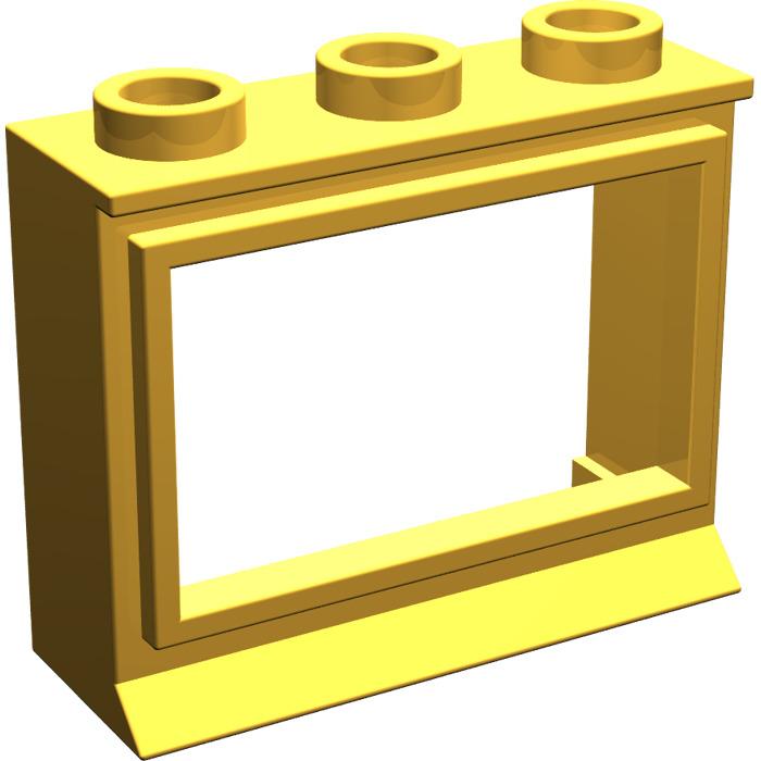 Lego bright light orange classic window 1 x 3 x 2 with for 2 x 3 window