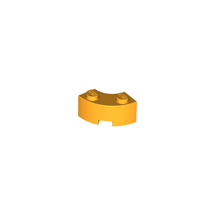 Lego 5 New Pearl Gold Bricks Round Corner 2 x 2 Macaroni with Stud Notch Pieces