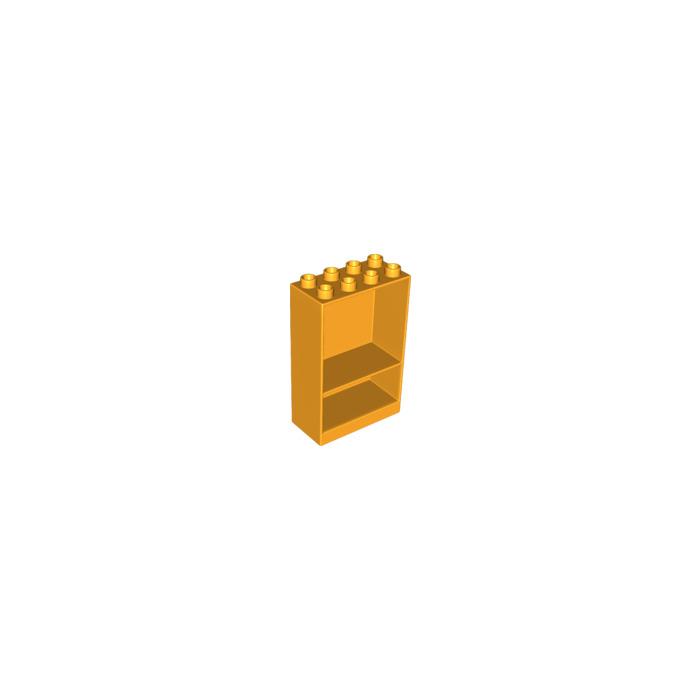 LEGO Bright Light Orange Frame 4 x 2 x 5 with Shelf (27395) | Brick ...