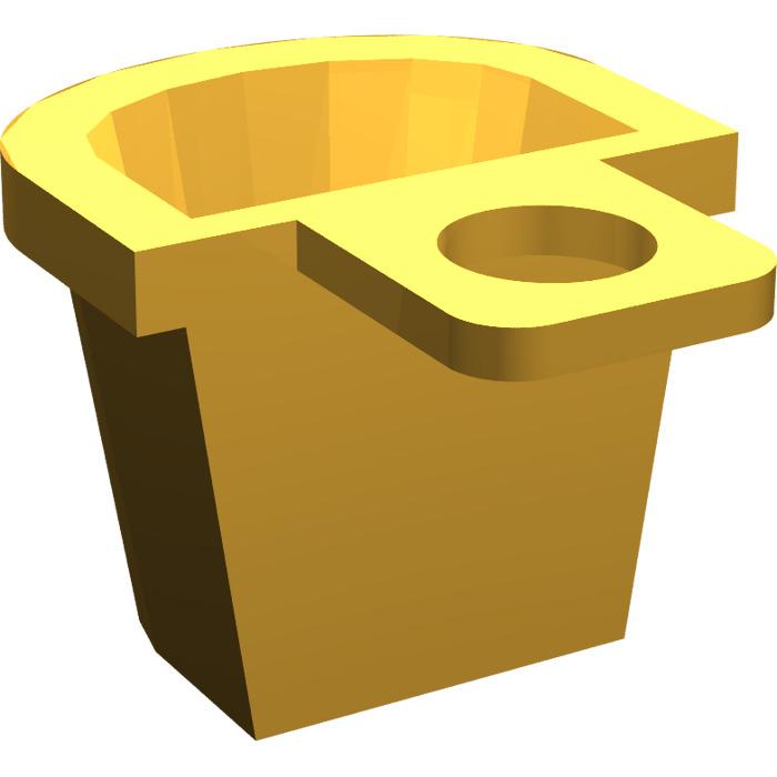 Lego 4523 @ @ polybag container d-basket répugnant brown x 2-4756 4840 7571 10193