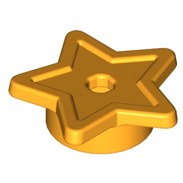 Lego Bright Orange Yellow 1x1 Star Stud Plate x25 *NEW City Friends Xmas 11609