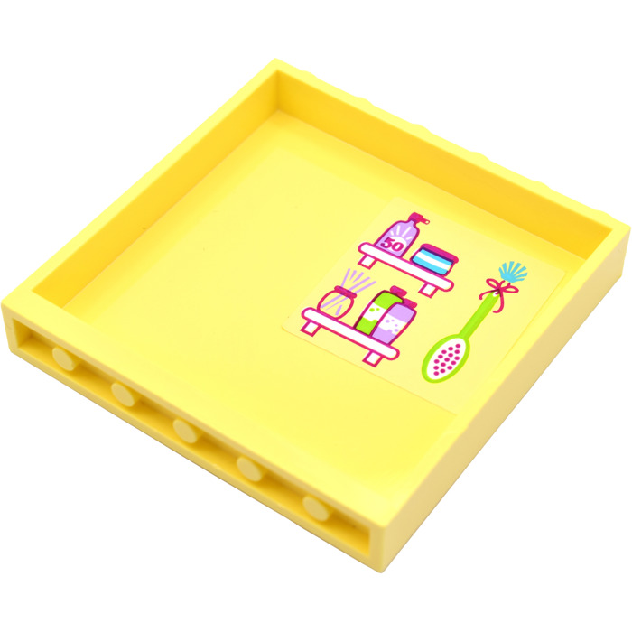 Light Yellow Bathroom Accessories lego bright light yellow panel 1 x 6 x 5 with bathroom accessories