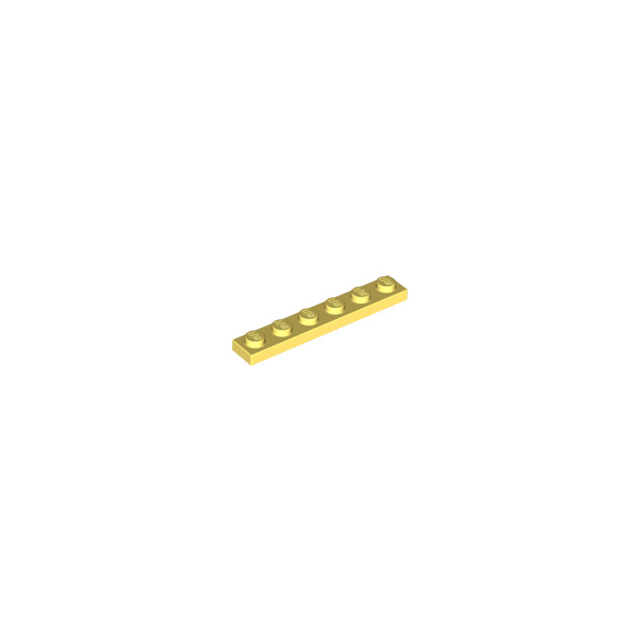6 Plate 1 x 6 YELLOW 3666 3666 LEGO Parts~