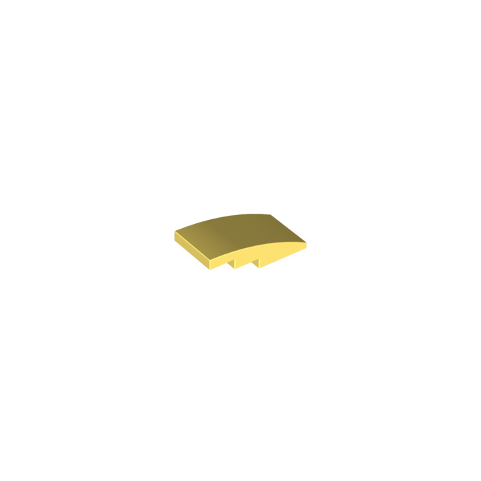 Lego 93606 4 x 2 slope curved pack of 2 light stone grey