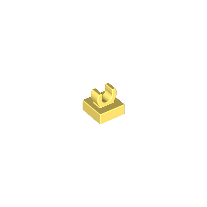 Lego 15712-6x brick//tile modified 1x1 with clip-yellow//yellow-new
