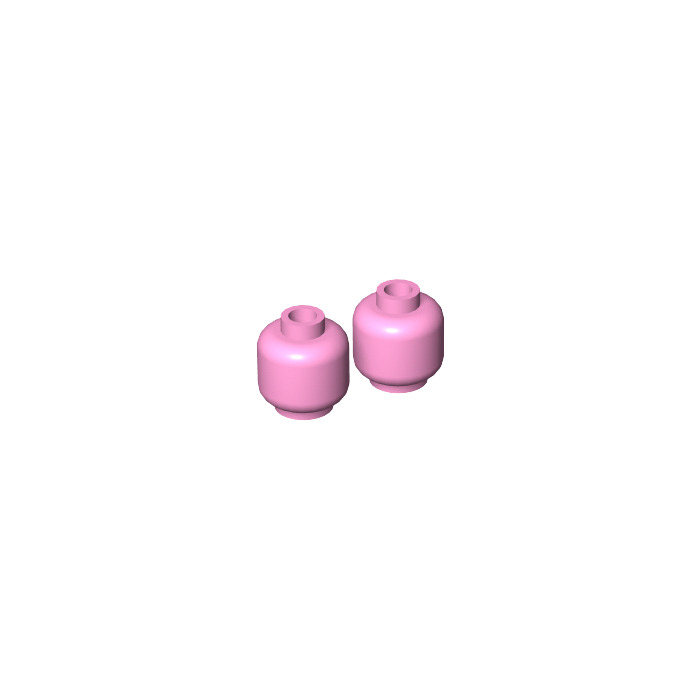 Lego 1x minifig tête head Stud Recessed rose foncé//dark pink 3626c NEUF