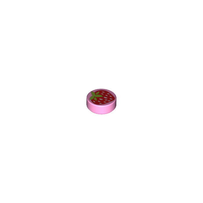 NEW LEGO Tiles Decorated Round 1x1 Strawberry Bright Pink x 5 Friends
