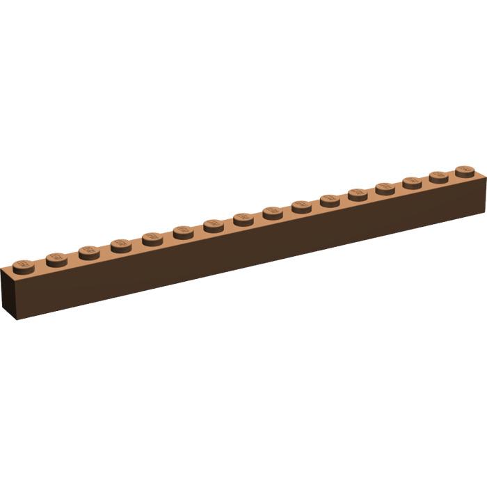 LEGO 6 x base pietra pietra 1x16 ROSSO RED Basic Brick 2465 246521