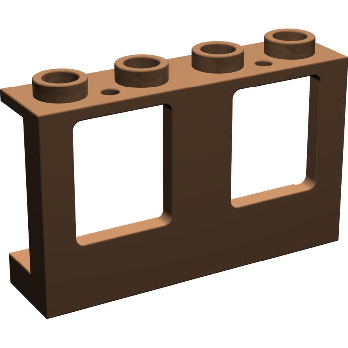 Lego marron plane window 1 x 4 x 2 4863 brick owl for Fenetre lego