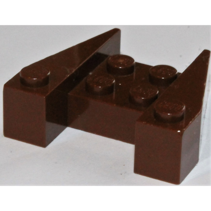 Lego-wedge plate 4x wing 3x4 stud notches brown//répugnant brown 48183 new
