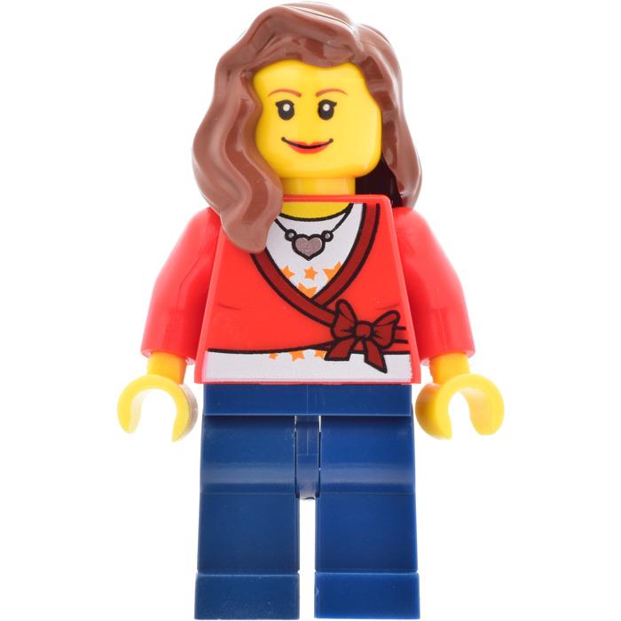 LEGO Minifigure Hair WHITE 85974 Female Girl Mid-Length Part Right Shoulder