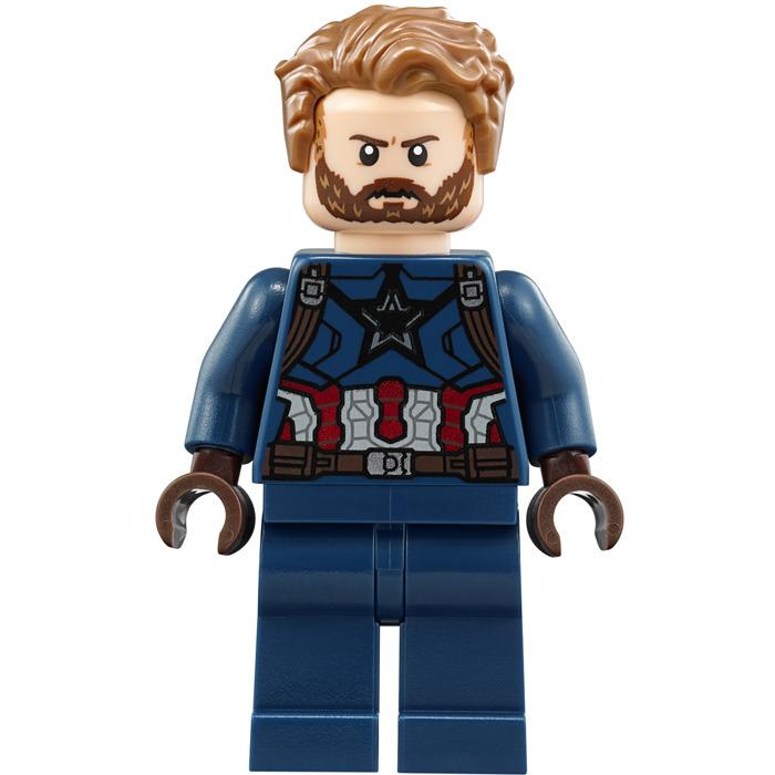 Lego 2018 Marvel >> LEGO Captain America Minifigure | Brick Owl - LEGO Marketplace