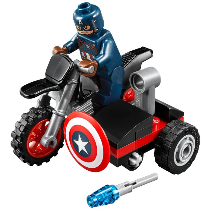 Lego captain america 39 s motorcycle set 30447 brick owl lego marketplace - Lego capitaine america ...