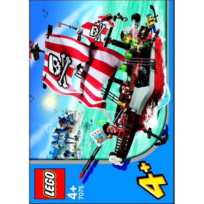 Lego Captain Redbeards Pirate Ship Set 7075 Instructions Brick