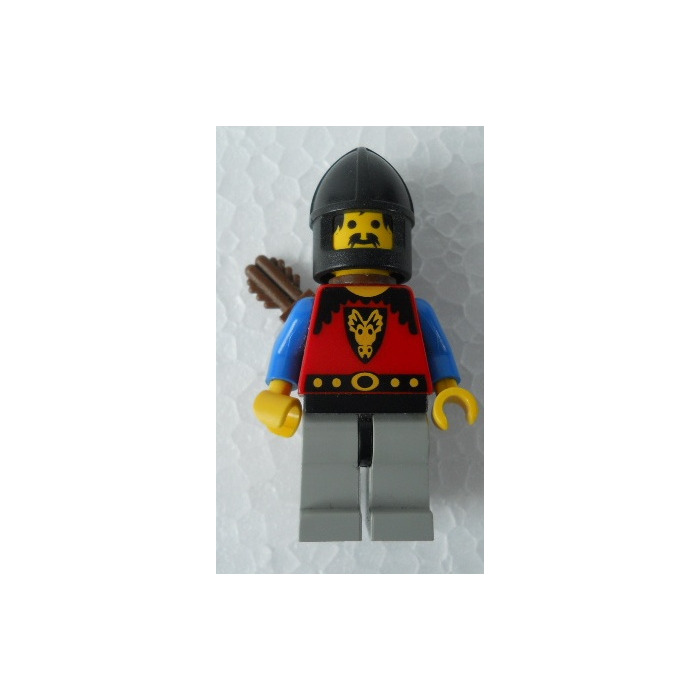 LEGO Black Minifig Castle Helmet with Chin-Guard (3896) Comes In ...