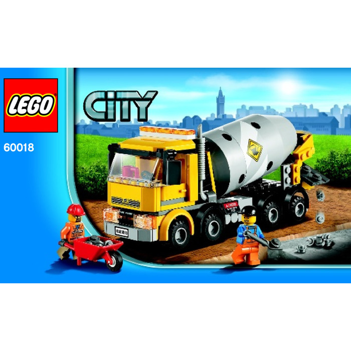 Lego Cement Mixer Set 60018 Instructions Brick Owl Lego Marketplace
