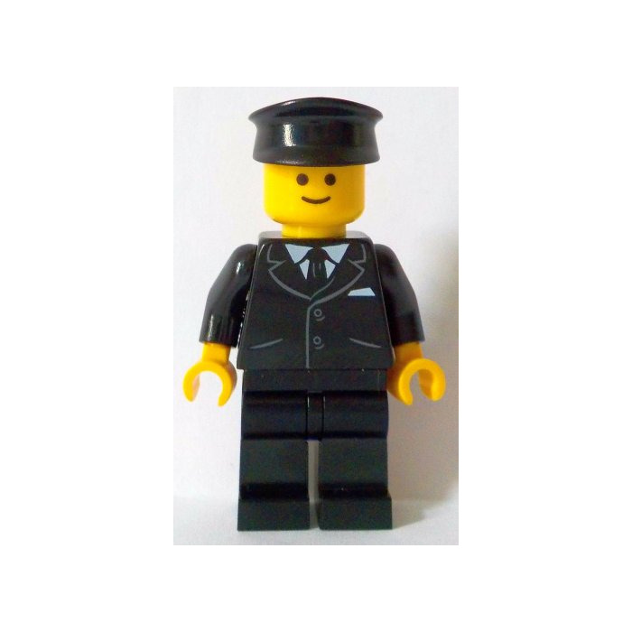 LEGO Chauffeur Minifigure without Side Lines   Brick Owl - LEGO ...