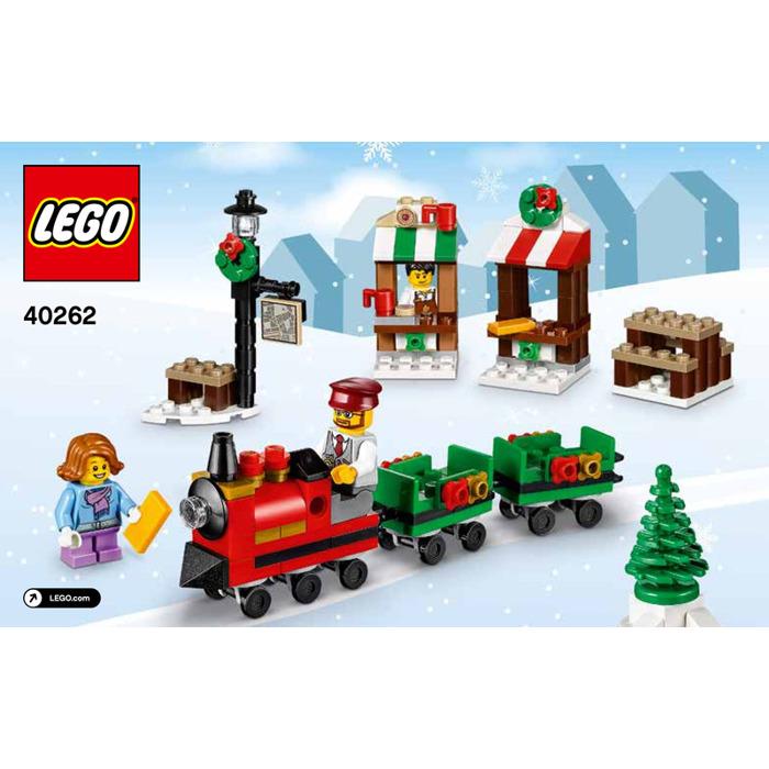 Lego Christmas.Lego Christmas Train Ride Set 40262 Instructions