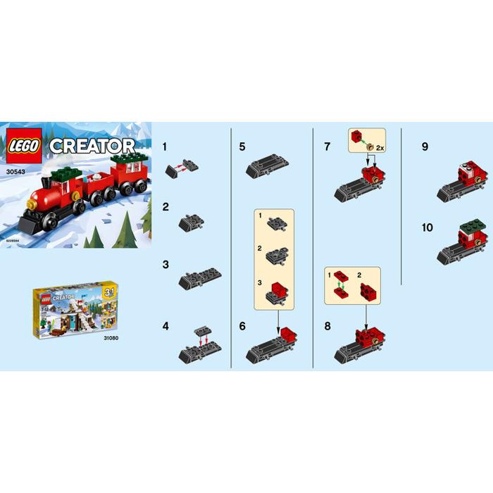 Lego Christmas Train.Lego Christmas Train Set 30543 Instructions