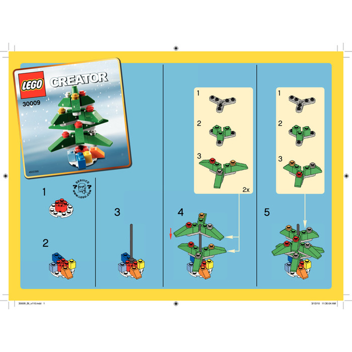 LEGO Christmas Tree Set 30009 Instructions