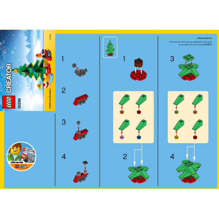 LEGO Christmas Tree Set 30286 Instructions