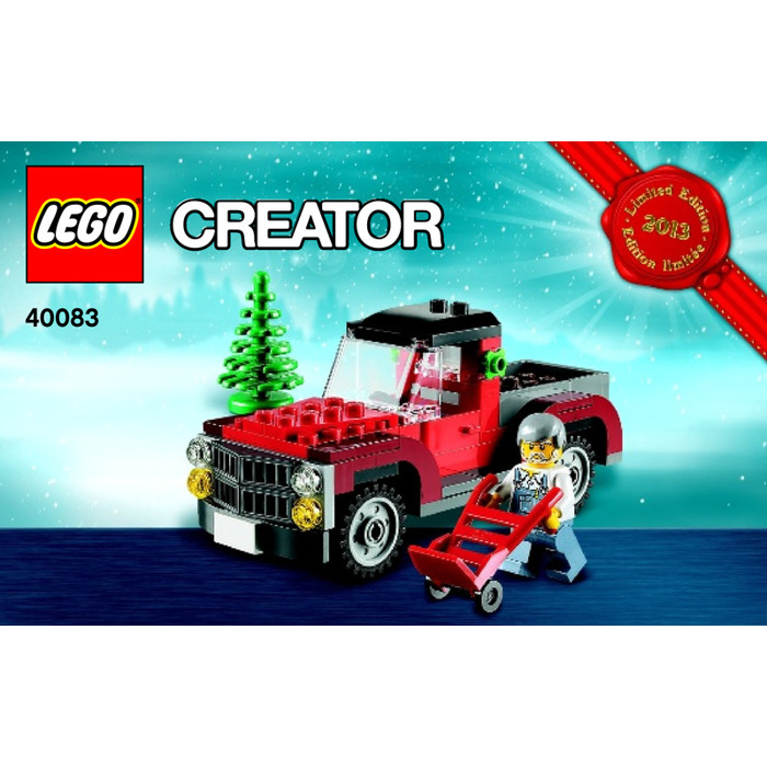 LEGO Christmas Tree Truck (2013 Set 2) 40083 Instructions