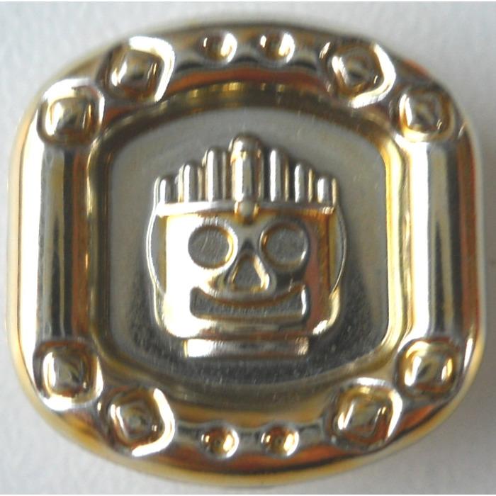 LEGO Chrome Gold Minifig Sun Disc