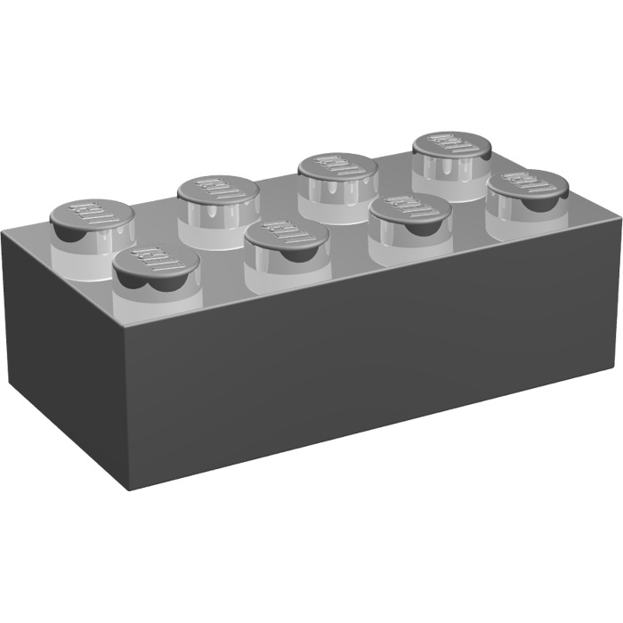 LEGO Chrome Silver Brick 2 x 4 | Brick Owl - LEGO Marketplace