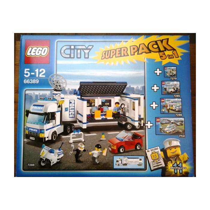 lego city police super pack 5 in 1 set 66389 packaging - Lgo City Police