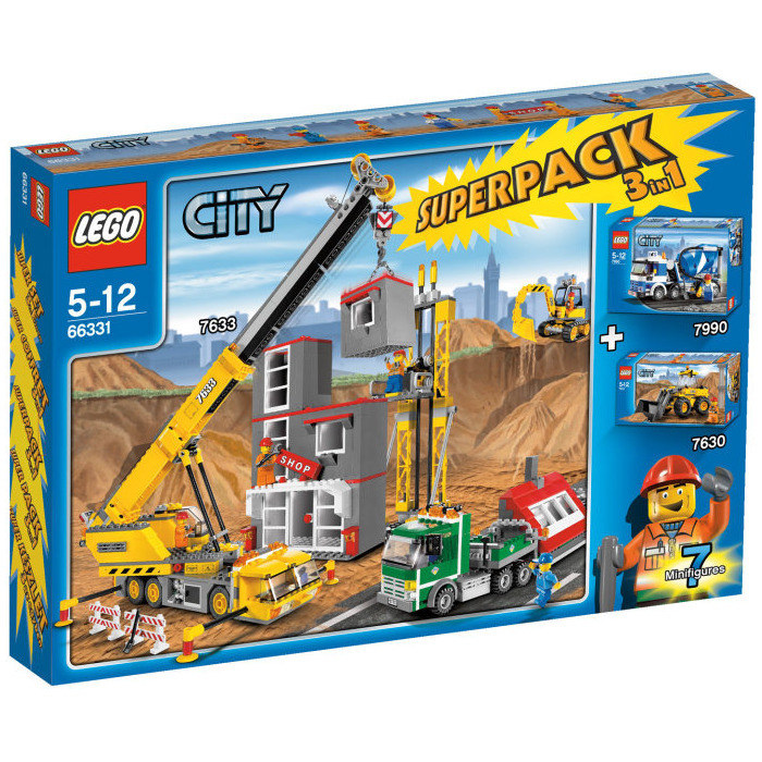 lego city super pack 3 in 1 set 66331 brick owl lego marketplace. Black Bedroom Furniture Sets. Home Design Ideas