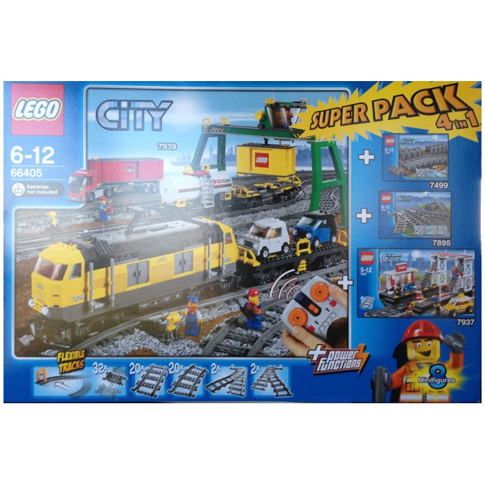lego city trains super pack 4 in 1 set 66405 brick owl lego marketplace. Black Bedroom Furniture Sets. Home Design Ideas
