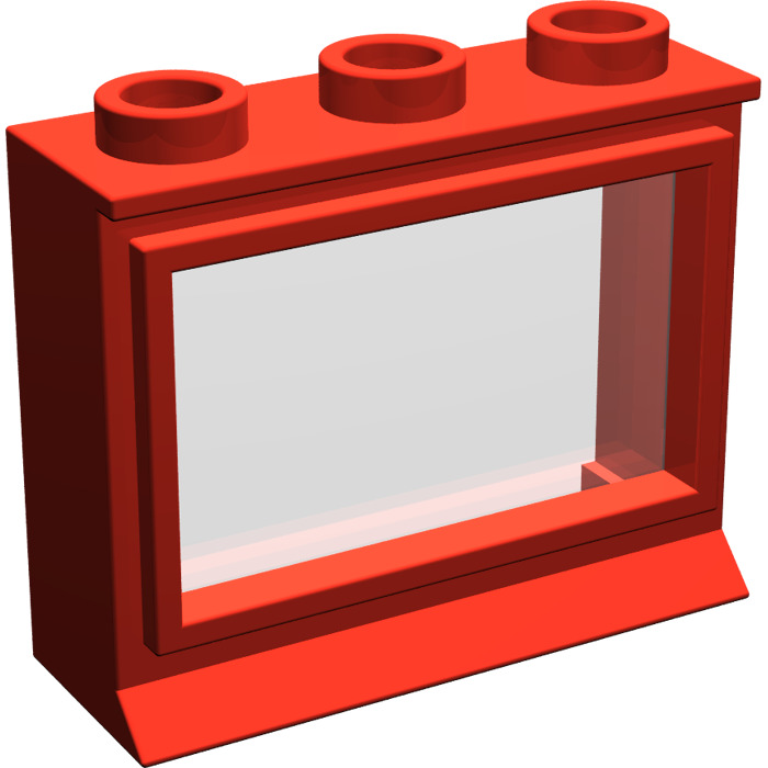 Lego classic window 1 x 3 x 2 with long sill and glass for 2 x 3 window