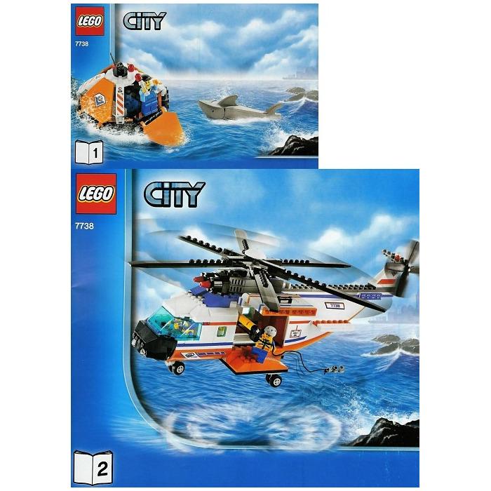 Lego Coast Guard Helicopter Life Raft Set 7738 Brick Owl Lego