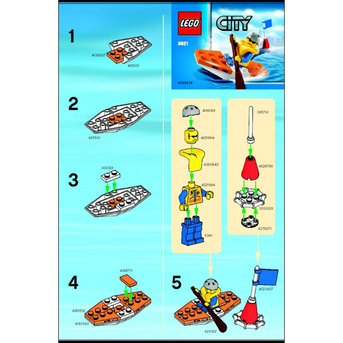 lego coast guard ship instructions