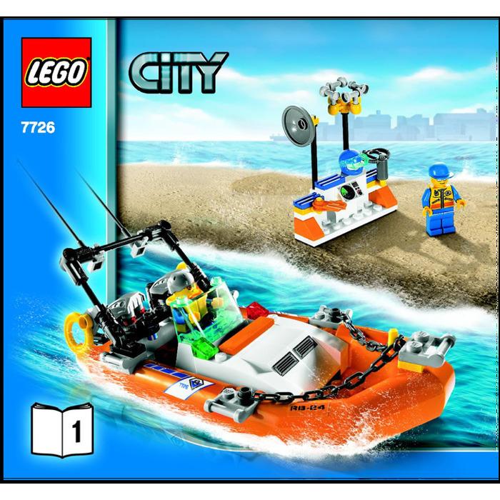 Lego Coast Guard Truck With Speed Boat Set 7726 Instructions Brick