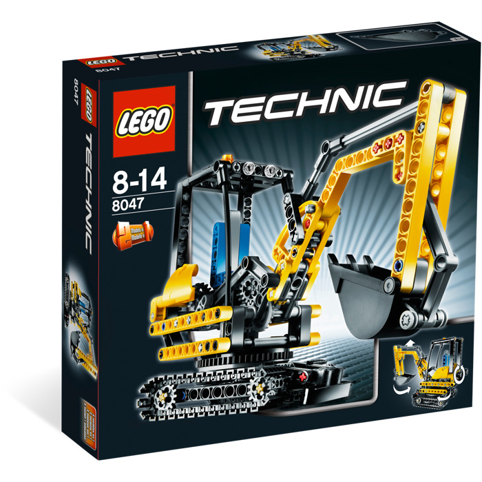 lego compact excavator 8047 brick owl lego plateforme. Black Bedroom Furniture Sets. Home Design Ideas