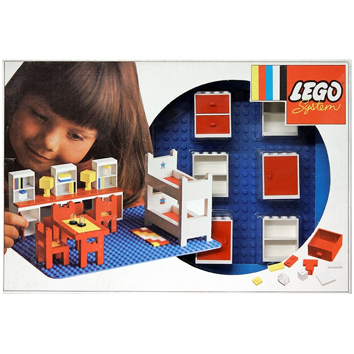Room 2 Build Bedroom Kids Lego: LEGO Complete Children's Room Set 262-2 Inventory