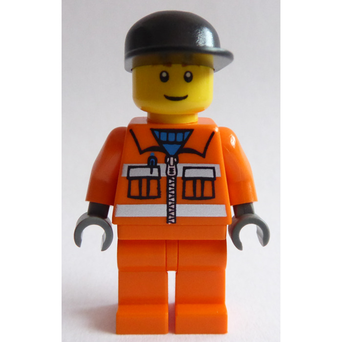 LEGO Minifig City Town Cap Construction Builder Hard Hat Red