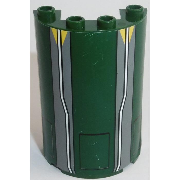 Lego 85941 35312 35313 Cylinder Half 2 x 4 x 5 with 1 x 2 Cutout White