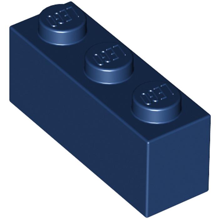 Lego 10 Blue 1x3 brick block NEW