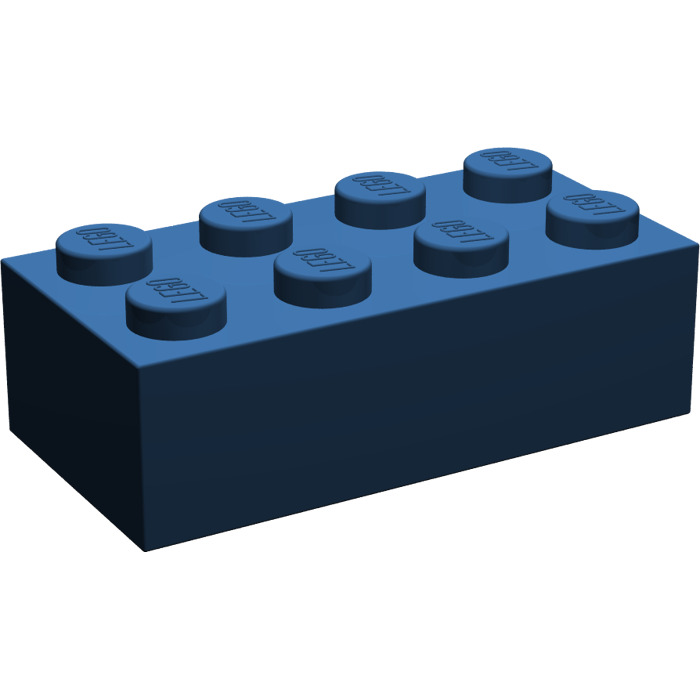 lego dark blue brick 2 x 4 3001 brick owl lego marketplace. Black Bedroom Furniture Sets. Home Design Ideas