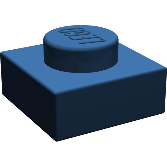 10x 4184108 Brick 3024 LEGO NEW 1x1 Dark Blue Plate