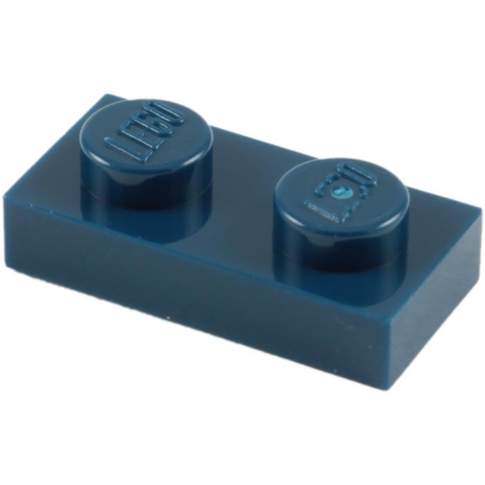 Lego Dark Bluish Gray 1x2 Plate Lot of 50 Part No 3023