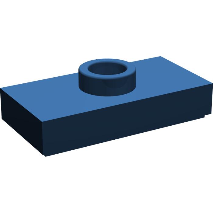LEGO® Dark Blue Plate 1 x 2 with 1 Stud Design ID 15573