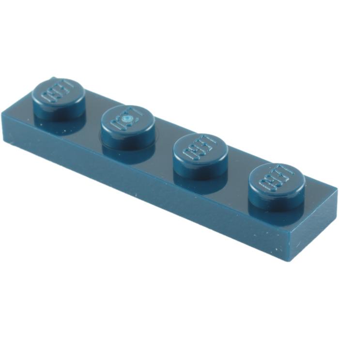 LEGO 3710 Dark Blue 1x4 PLATES 1 x 4 Building Blocks 20 Pieces
