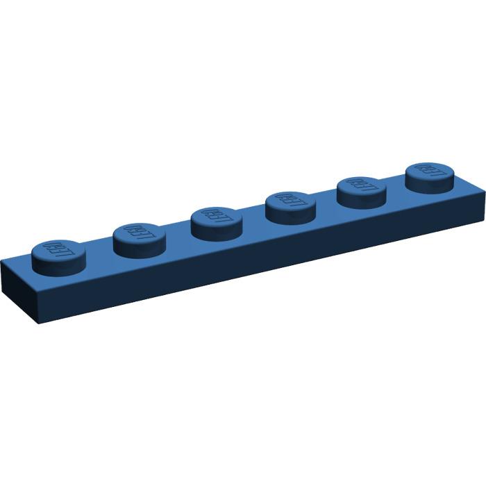 LEGO Parts~ 6 Plate 1 x 6 ~ 3666 DARK BLUE