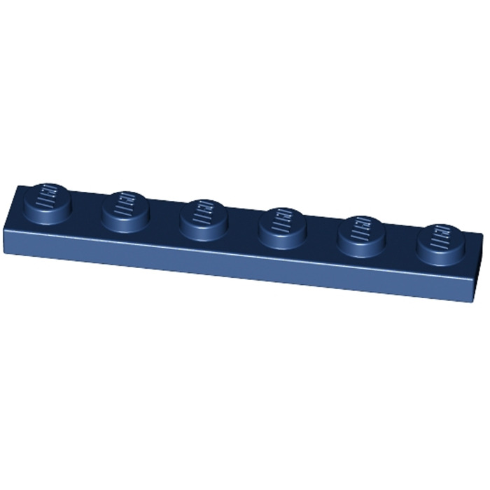 LEGO Parts~ 6 Plate 1 x 6 ~ 3666 DARK BLUE