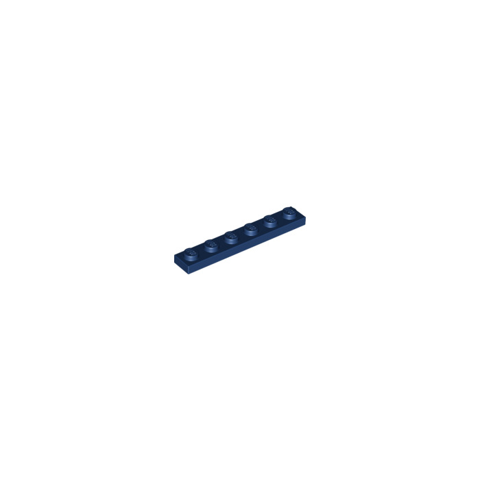 7 1x6 Dark Blue Standard Plate Bricks ~ Lego  ~ NEW ~