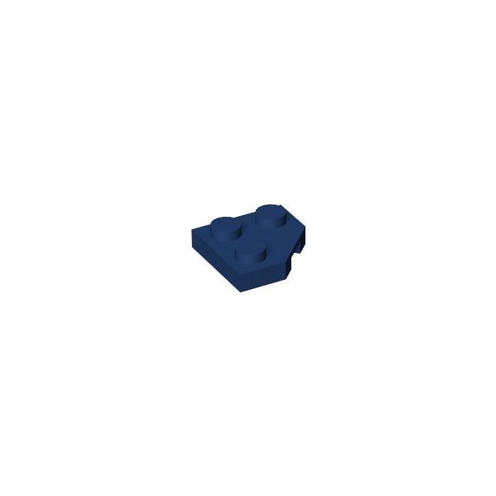 10x LEGO NEW 2x2 Dark Blue Wedge Plate 45° 6164071 Brick 26601